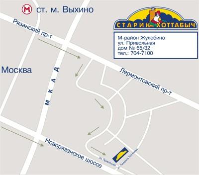 Москва, Жулебино. Схема