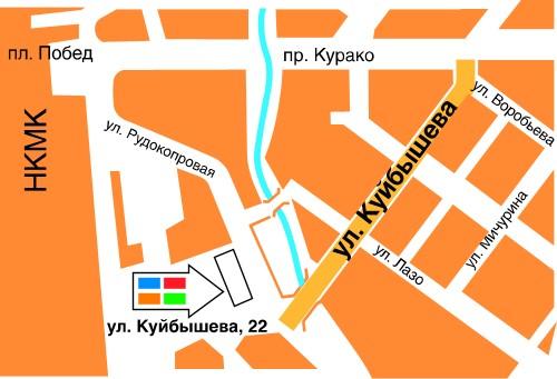 Карта Красноярска позволяет