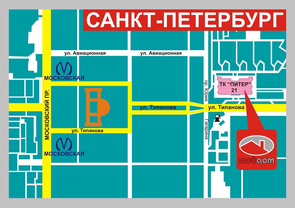 Схема проезда к магазину