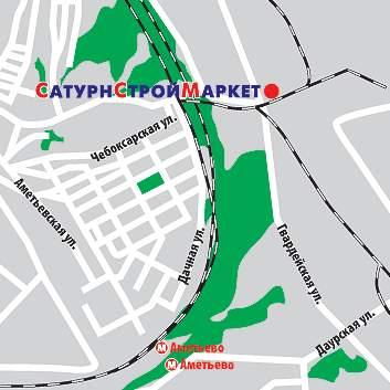 Казань, Гвардейская улица.  Схема проезда к магазину.