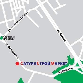 Казань, Космонавтов улица.  Схема проезда к магазину.