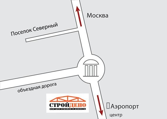 Белгород, Северный. Схема
