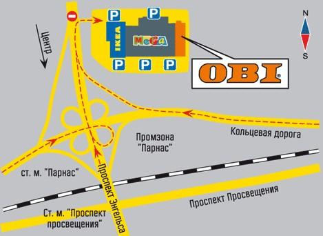 Санкт-Петербург, Парнас. Схема